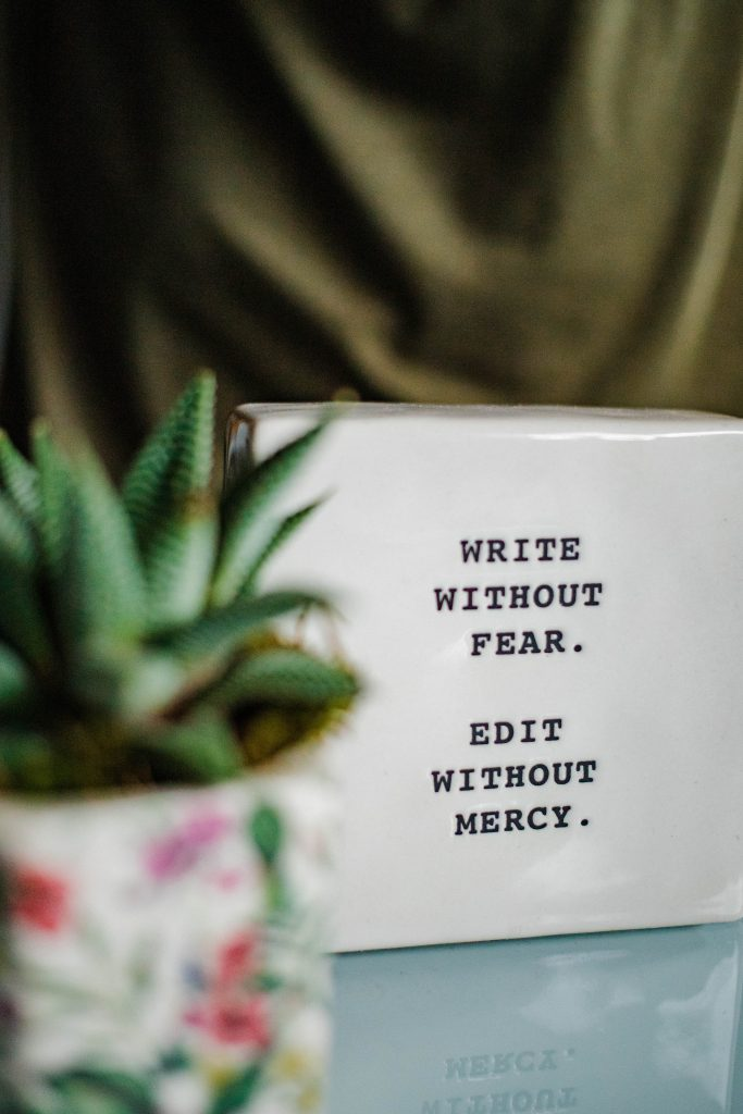 A quote about writing blog post